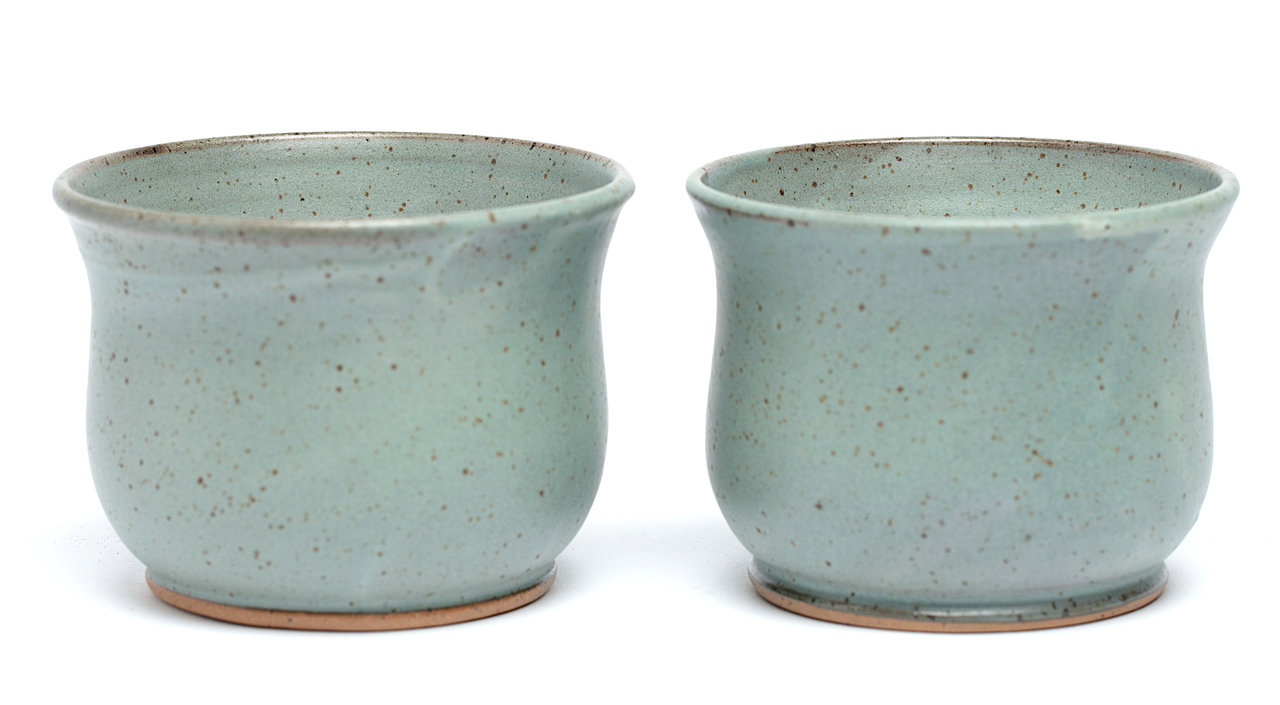 Frosted Blue Bowls 2 Piece Set