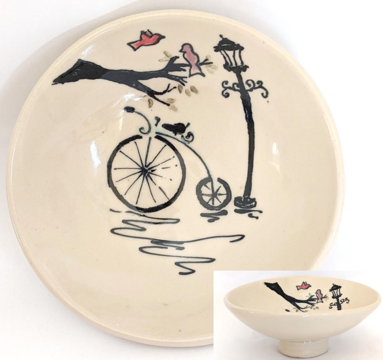 Bicycle & Lamp Post Bowl