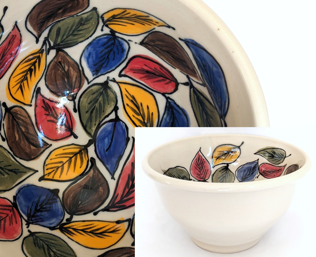 Colorful Leaves Bowl