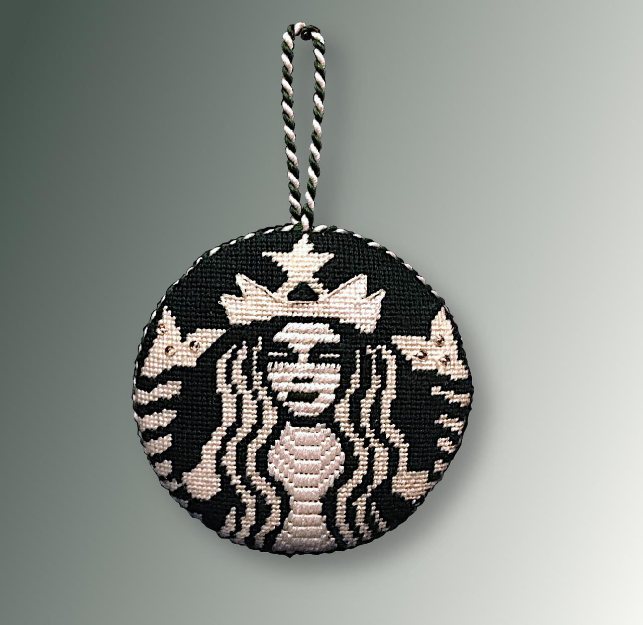 A Starbucks Inspired Needlepoint Ornament & $20 Gift Card