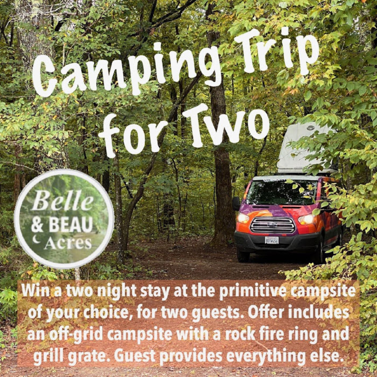Camping at Belle & Beau Acres