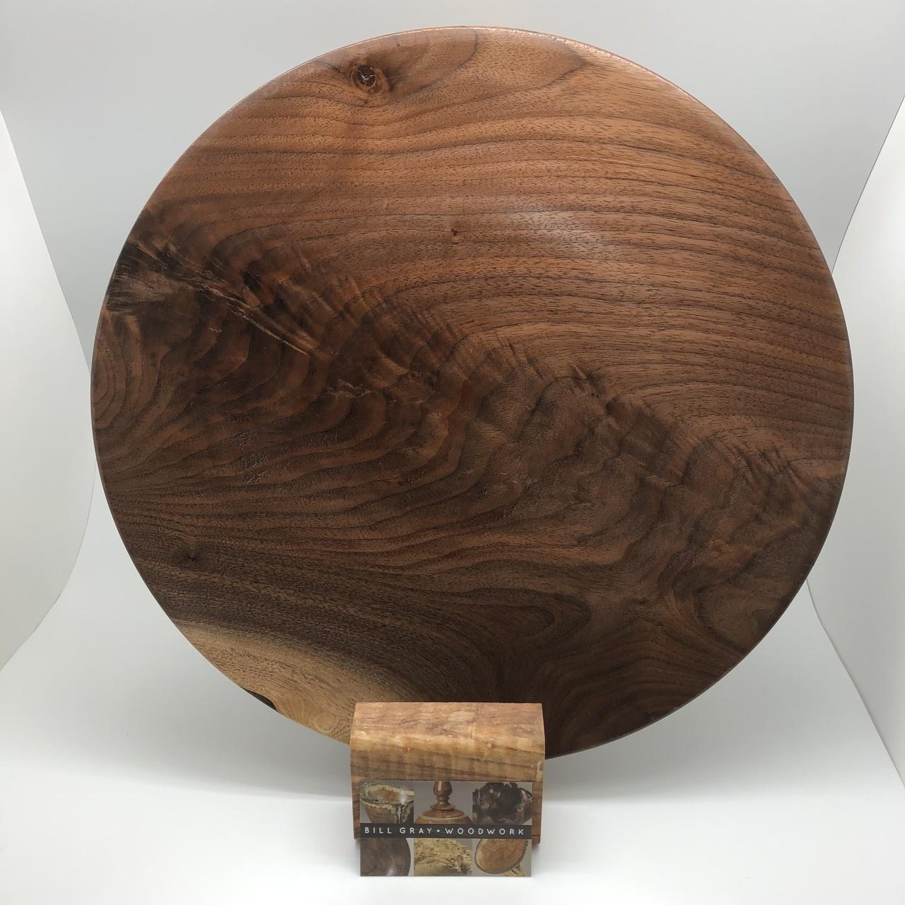 A Hand Turned Walnut Platter