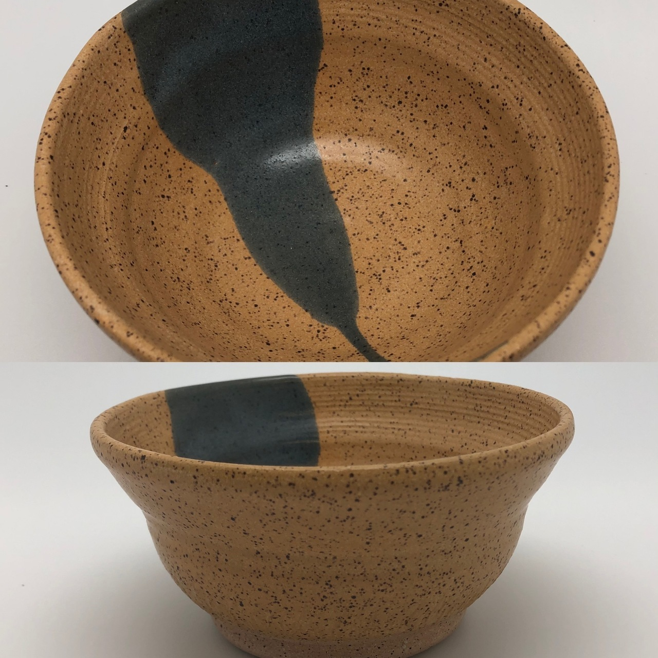 Speckled Sand Bowl with Gray Accent