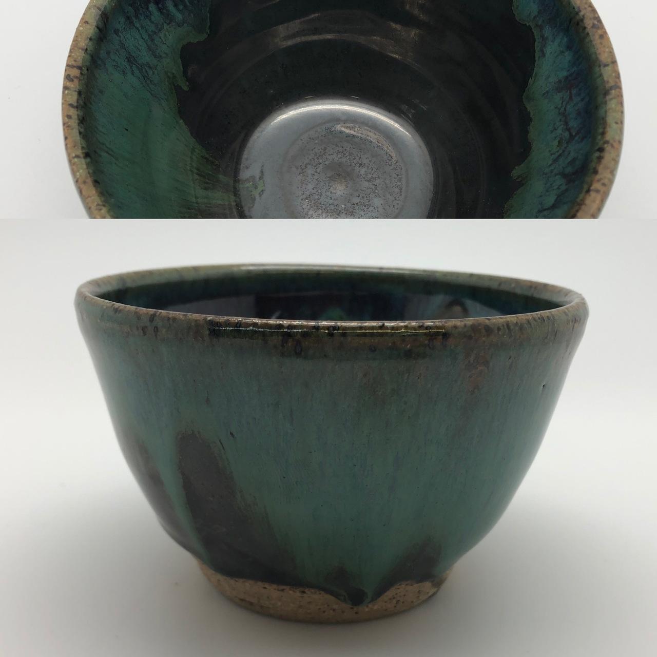 Dark Green Metallic Look Bowl