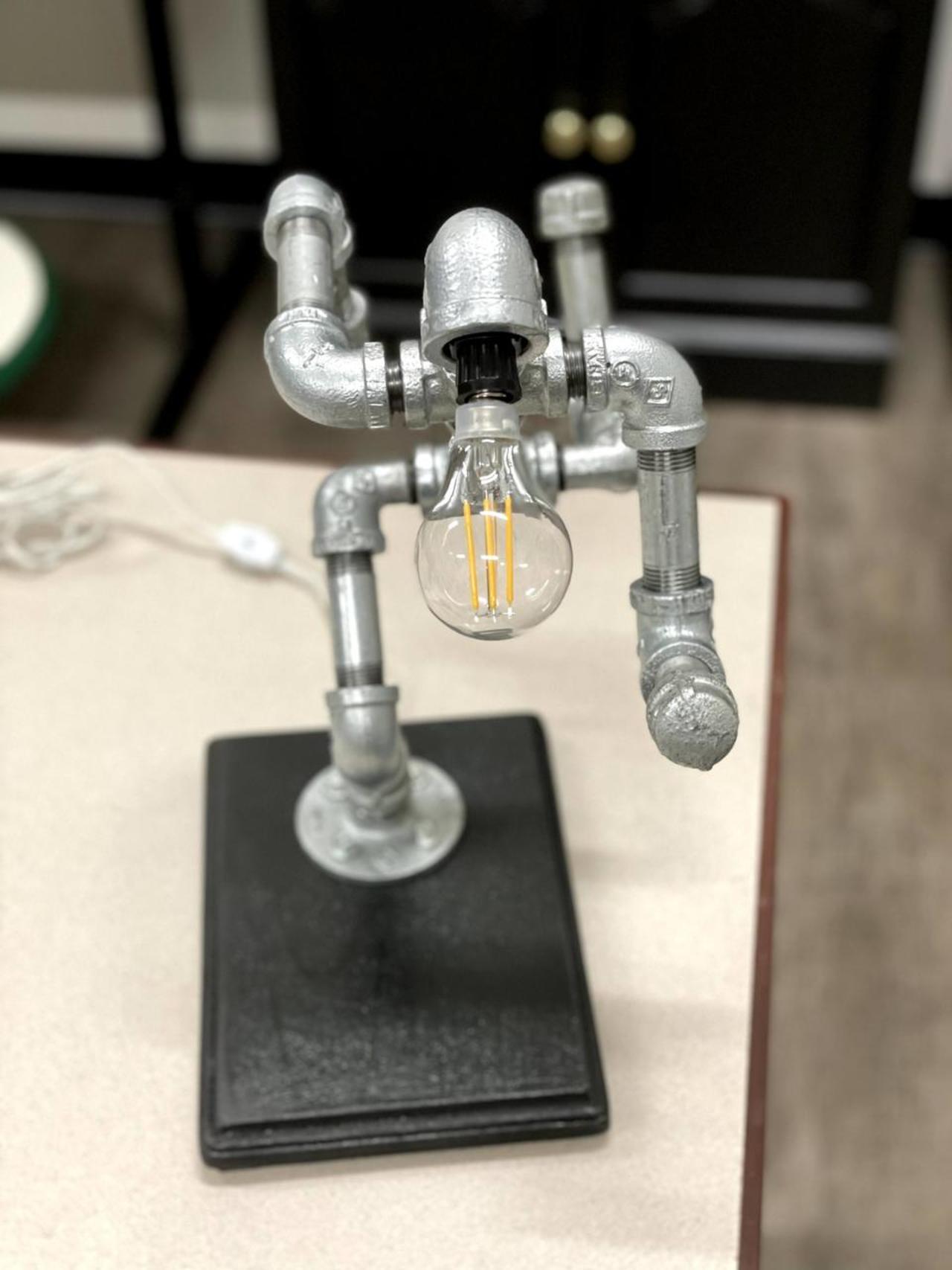 """Item T - Running Man """"themed"""" Lamp"""