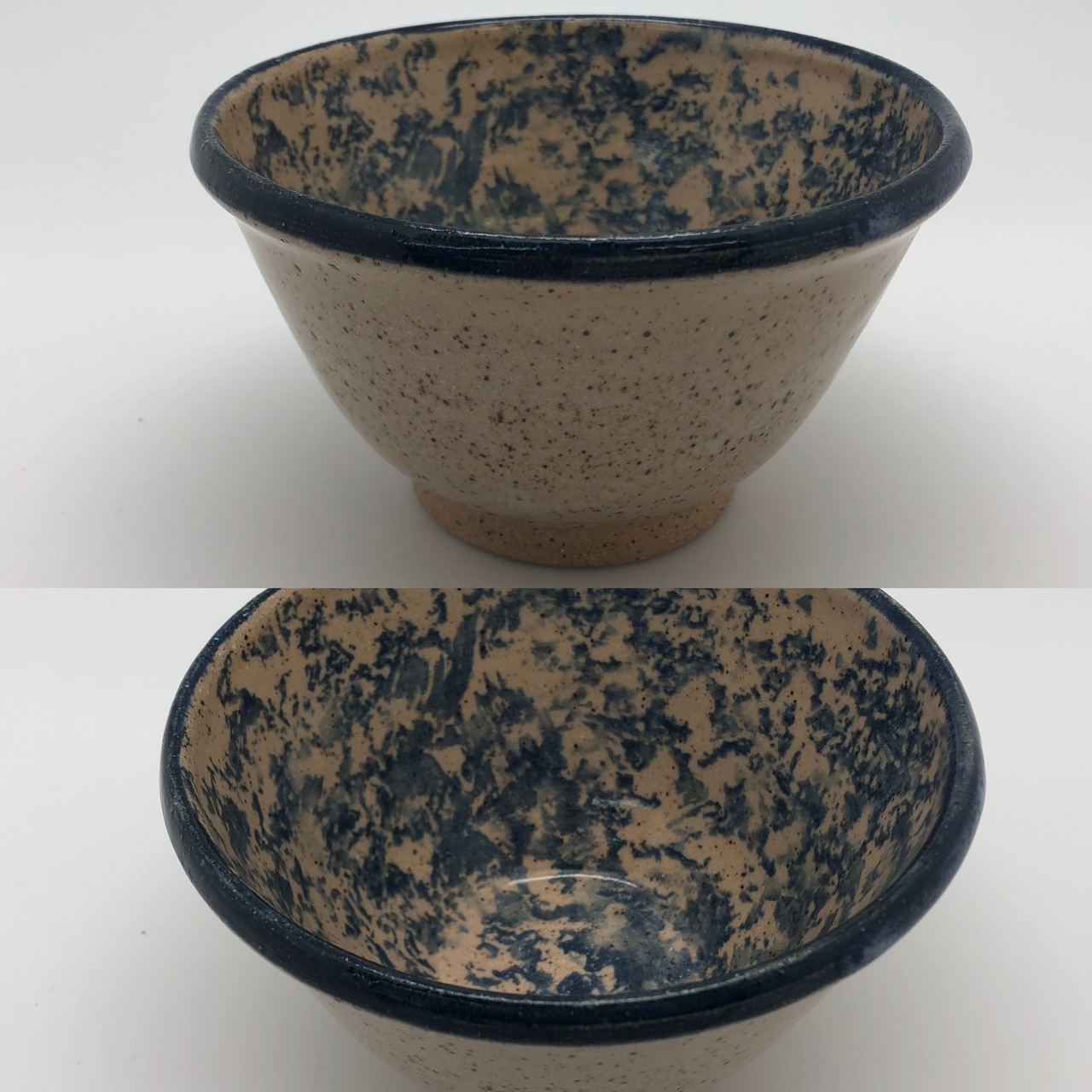 Blue Stippled Bowl