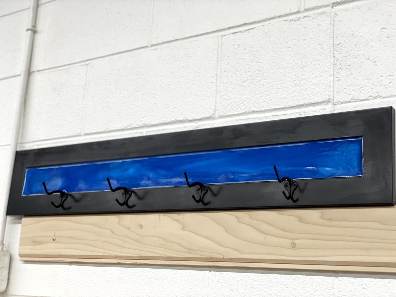 Item ZZK - Thin Blue Line Wall Mount & Coat Hook