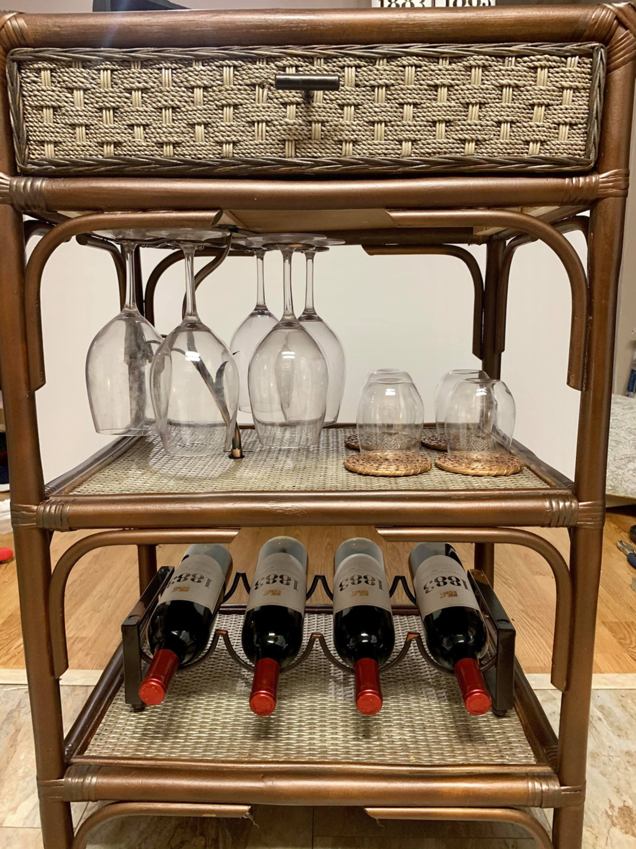 Item ZZZZE- Converted Wine Cart(Wine included)