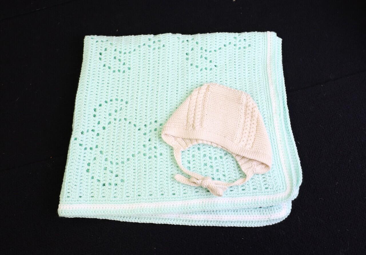 Blanket and Bonnet set