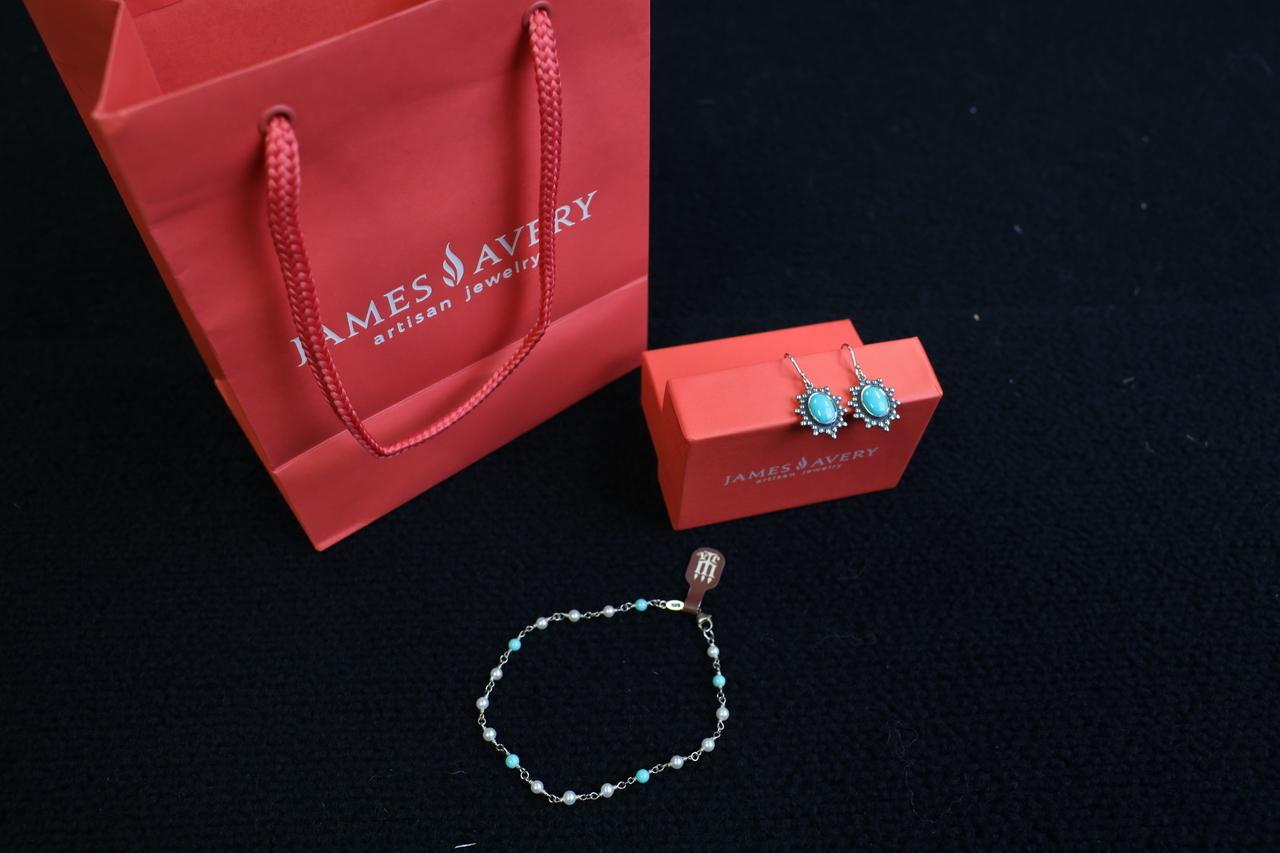 James Avery Bracelet and Earring set