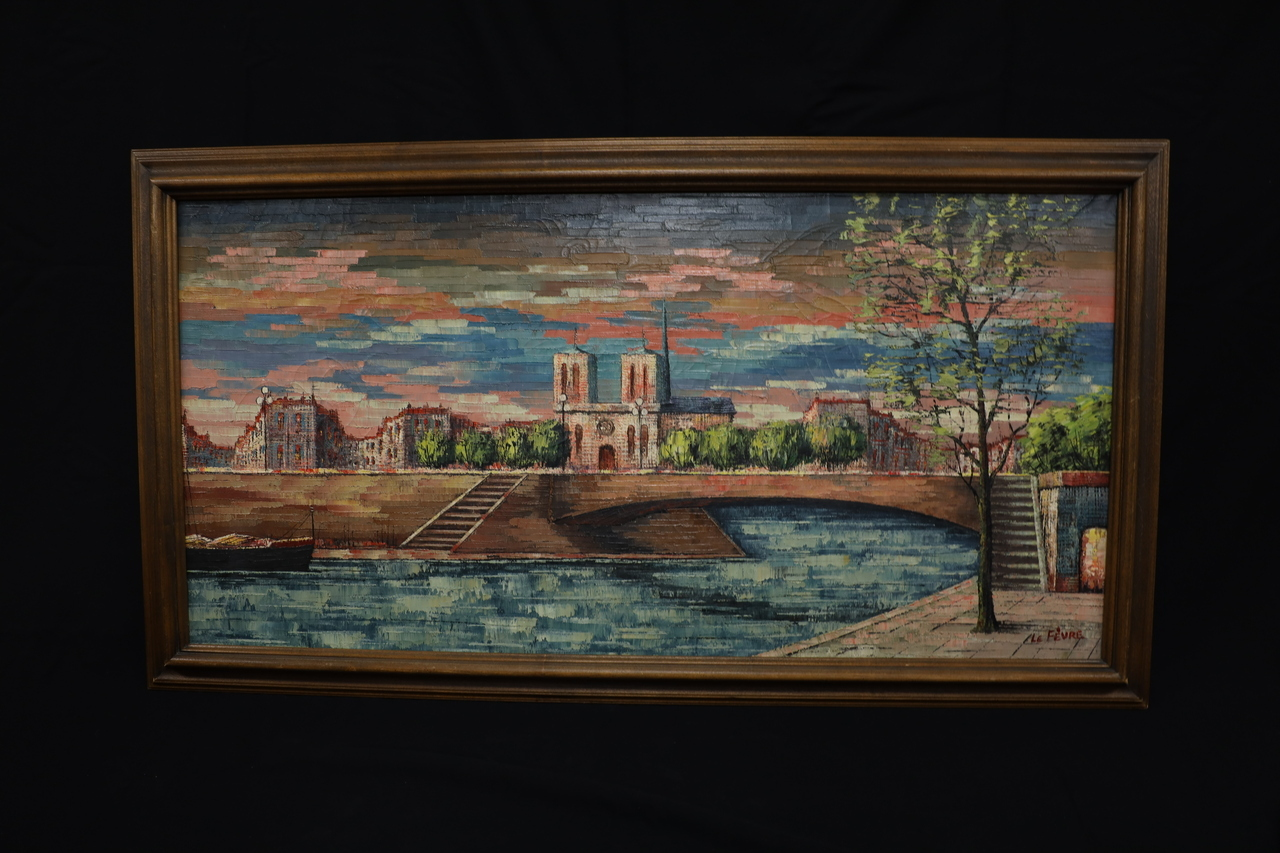 Notre Dame Oil Painting