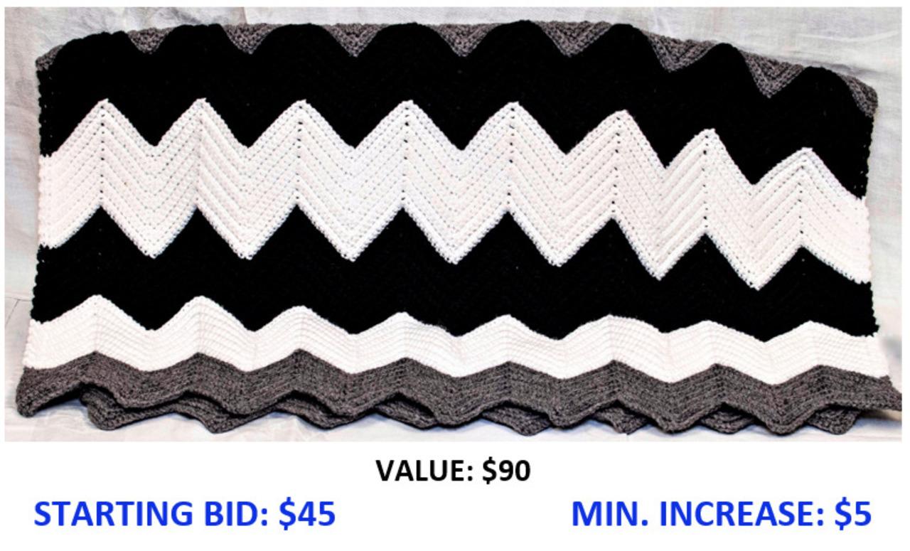 Chevron Stripe Lap Robe