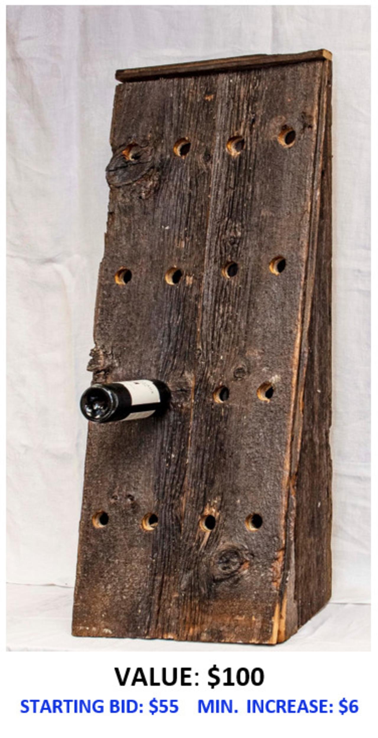 Standing Handmade Wine Rack