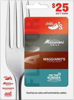 $25 Choice of 4 Restaurants Gift Card