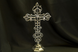 506 - Pewter standing Cross