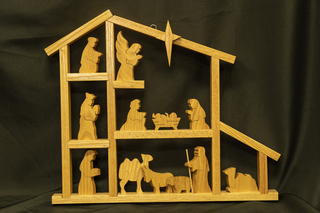 511 - Wooden Nativity Scene