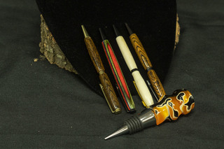 550 - Hand crafted Pens & Cork Screw
