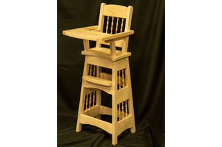 609 -Wooden High Chair