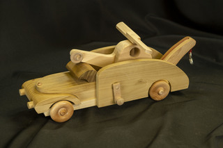 642 - Wooden Truck with Helicopter