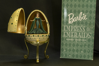 682 - Barbie Empress of Emeralds Resin Egg