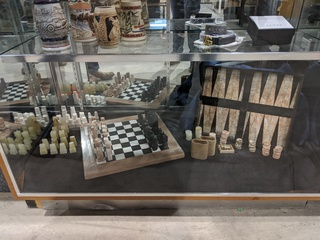Marble Chess and Backgammon Set