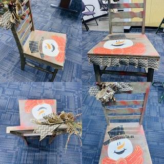 Item ZB - Snowman Chair