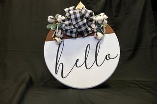 """Hello"" Custom Wood Sign"