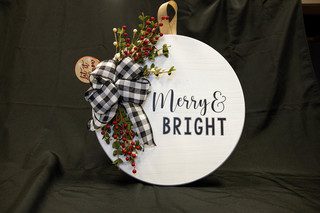 """""""Merry and Bright"""" Custom Wood Sign"""