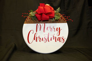 """Merry Christmas"" Custom Wood Sign"