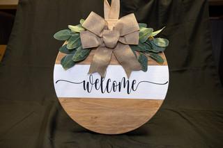 """Welcome"" Custom Wood Sign"