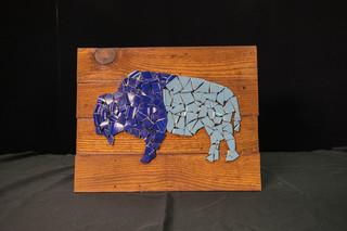 Mosaic Buffalo Sign