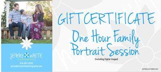 1 Hour Family Portrait Session + Digital Images