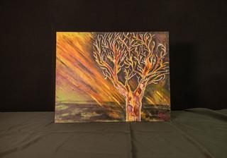 Original Tree Painting by Krystal Hawkins