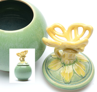 Butterfly Jar with Lid