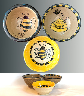 3 Piece Bee Bowls Set