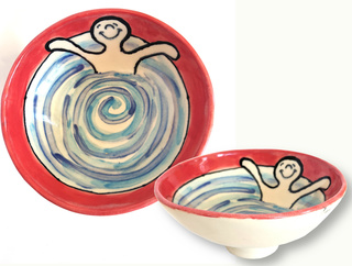 Bowl with Swimmer