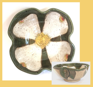White Dogwood Bowl