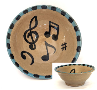 Musical Notes & Symbols Bowl