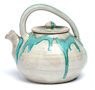 Blue and Gray Teapot