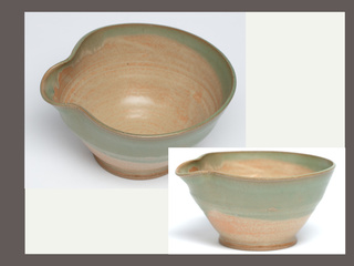 Pottery Bowl with Spout