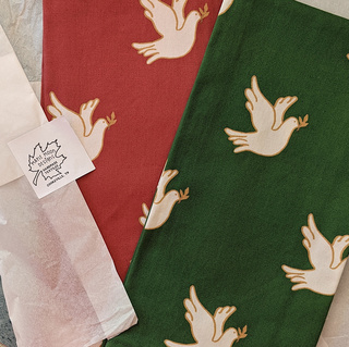 Christmas Dove Tea Towels by Maple Moon