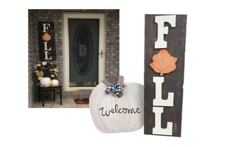 28.  Handcrafted Fall Signs