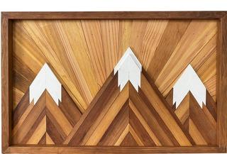 45.  Wooden Wall Art - Mountains