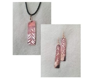 41.  Copper Pipe Necklace & Earings