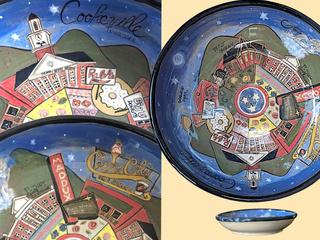 A large bowl featuring Cookeville landmarks