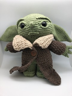 "Star Wars ""Yoda"" Inspired Crochet Doll"
