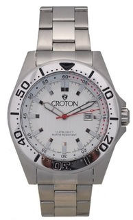 Men's All Stainless Steel Japan Quartz Watch with Silver Dial & Rotating Bezel
