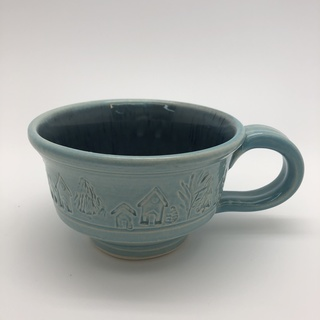 Light Blue House Mug