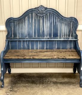 Item K - Bench Transformed from Bed Frame