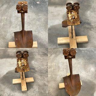 Item M - Metal Duck Sculpture